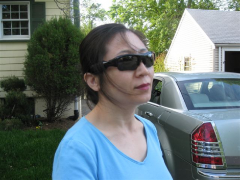 Spy Sunglasses in Use
